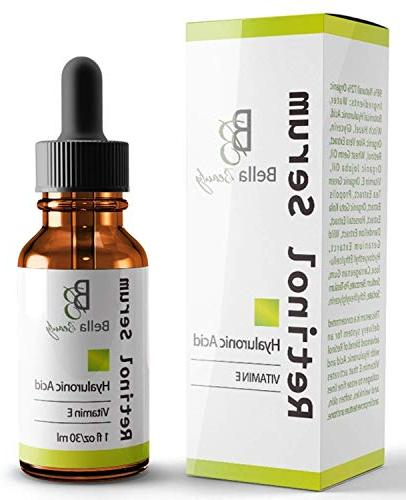 anti aging hyaluronic acid and retinol serum