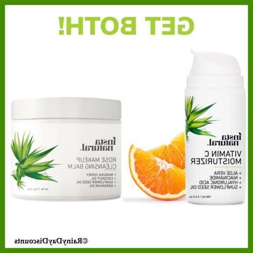 cleanser skin clearing serum niacinamide vitamin c