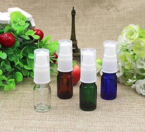 6PCS 10ml Empty Lotion Cream Pump Makeup Wash Bath Shower