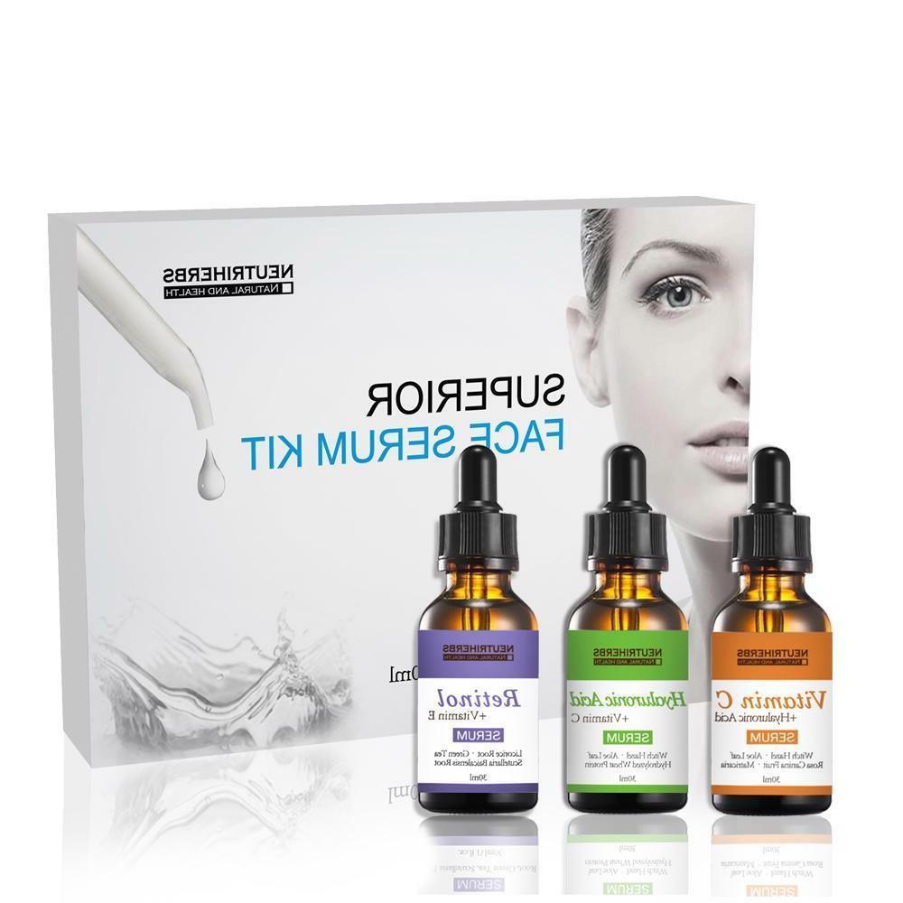 Face Vitamin C Serum Hyaluronic Acid Retinol Collagen Anti W