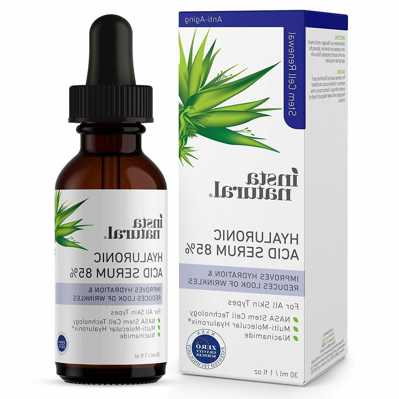 hyaluronic acid 85 percent face serum natural
