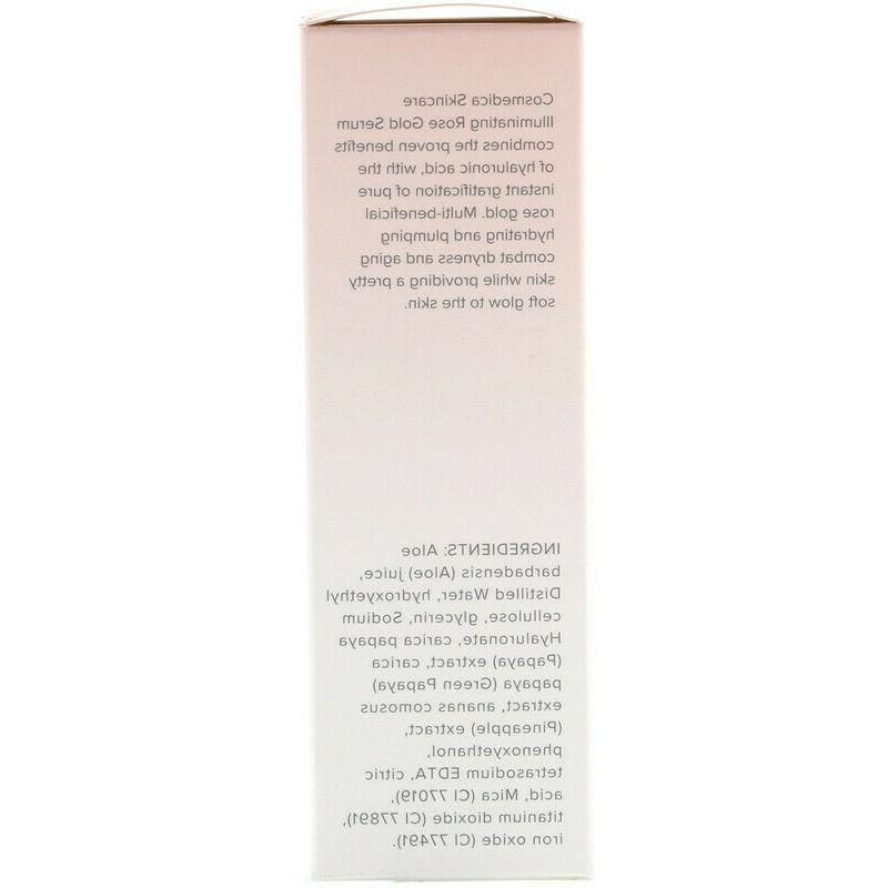 Cosmedica Rose Gold Serum, 2 oz - vegan -