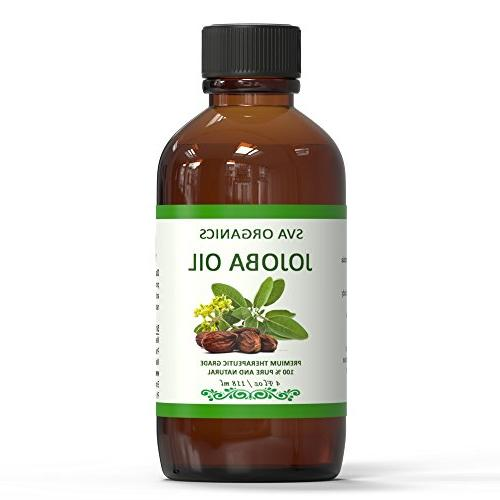 Jojoba Oil 4 Oz 100% Organic ,Cold Pressed Oil by | Hair, face Healing