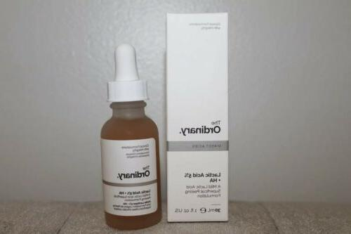 The Ordinary Lactic Acid 5% + HA 1 fl oz New No Box Superfic