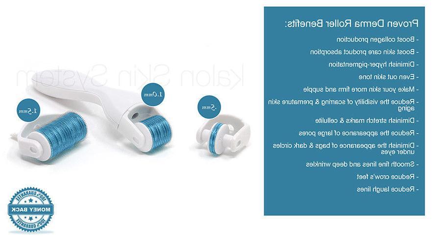 STRONGSELLS Microneedle Derma Roller Kit + Instruction Card + Vitamin