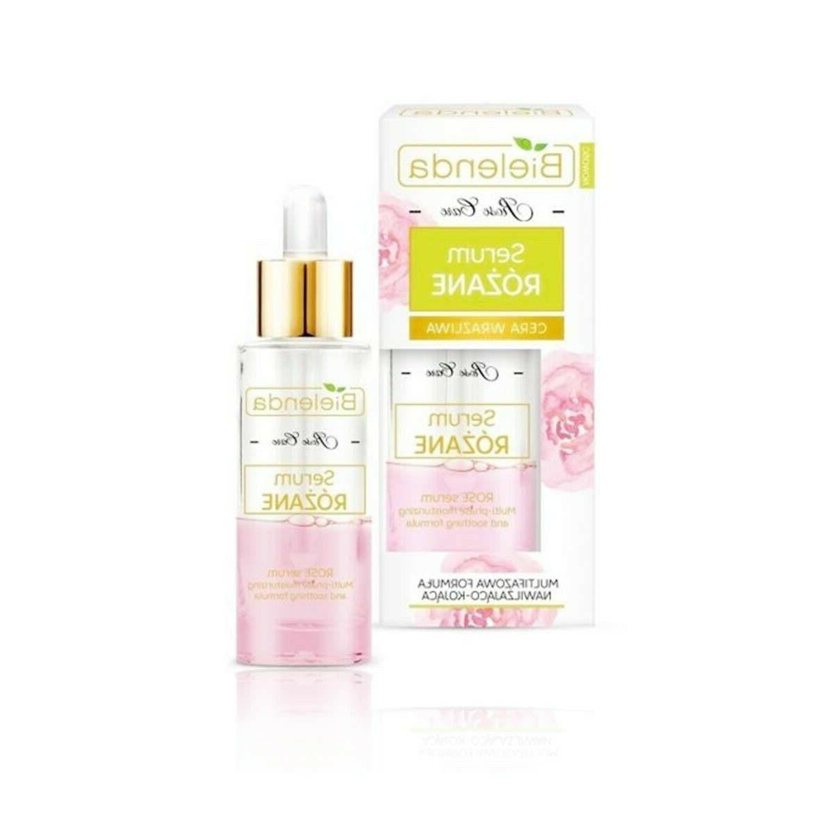 moisturizing rose face serum with rosehip oil