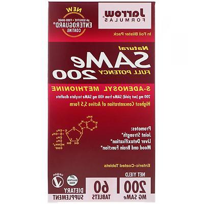 Jarrow Formulas Natural SAM-e S-Adenosyl-L-Methionine 200 mg