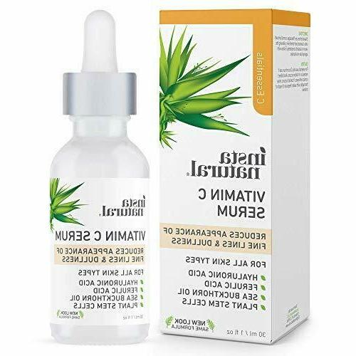 new vitamin c serum w hyaluronic acid