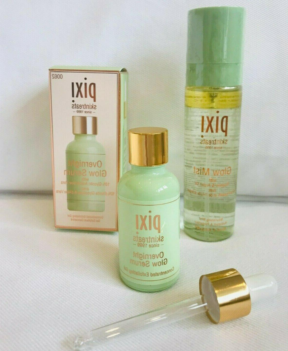 overnight glow serum and glow mist set