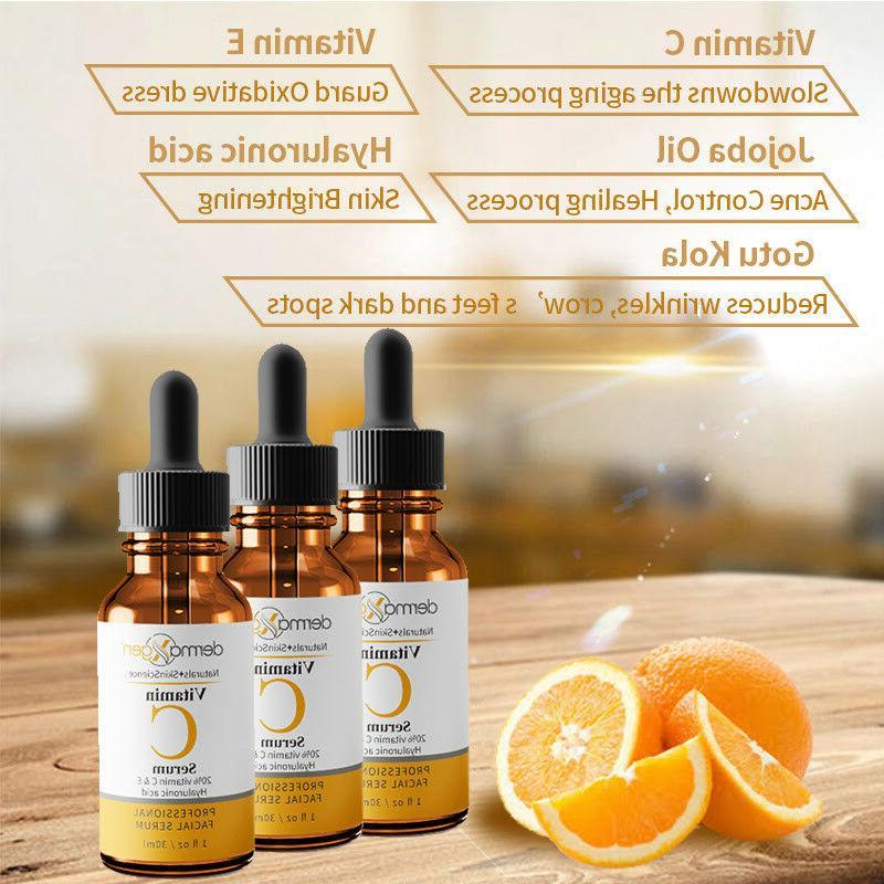 dermaXgen® Pure 20%+ E + Hyaluronic Acid Face Serum Anti-Wrinkle