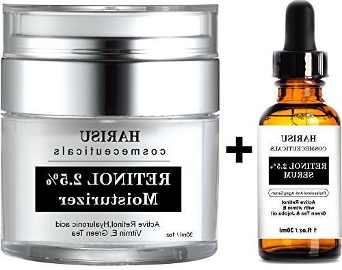 retinol moisturizer serum set