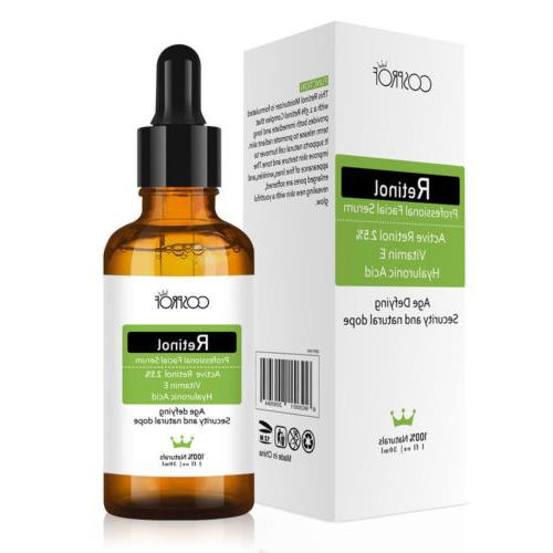 Retinol Serum VITAMIN 2.5% + Serum + HYALURONIC ACID