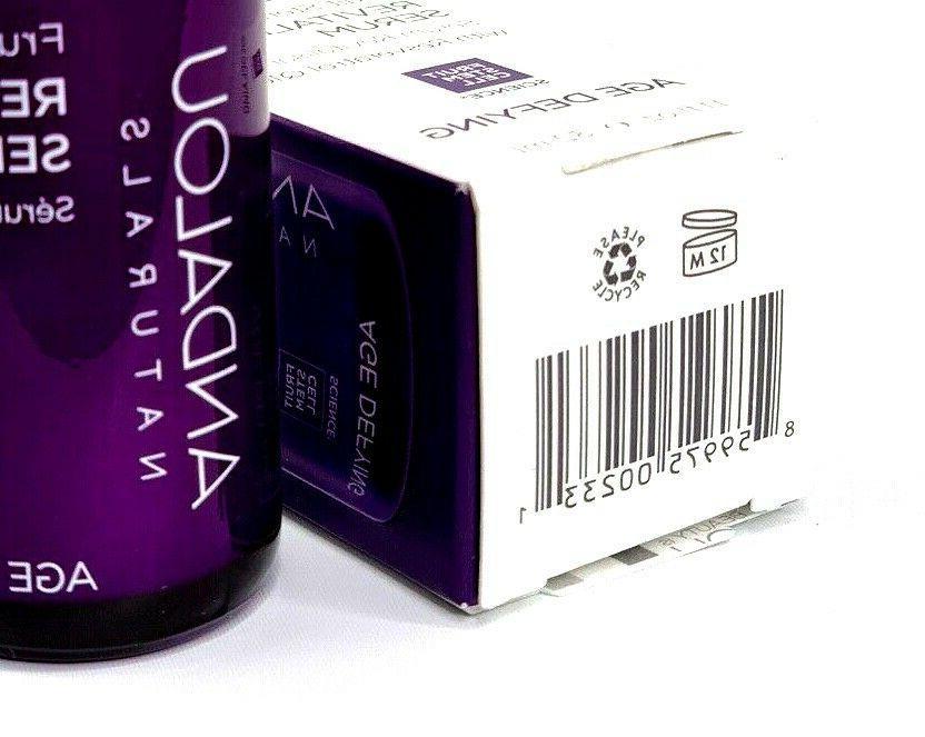 Andalou Naturals Serum Fruit Stem Defying Q10 fl oz