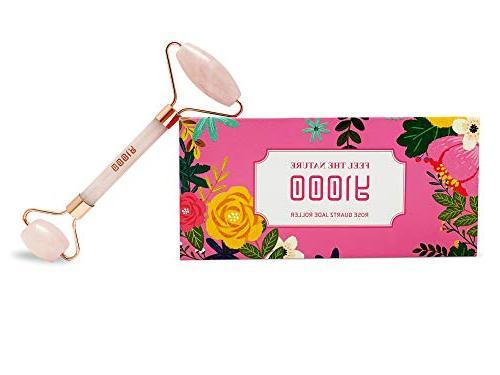 rose quartz facial massage roller the best