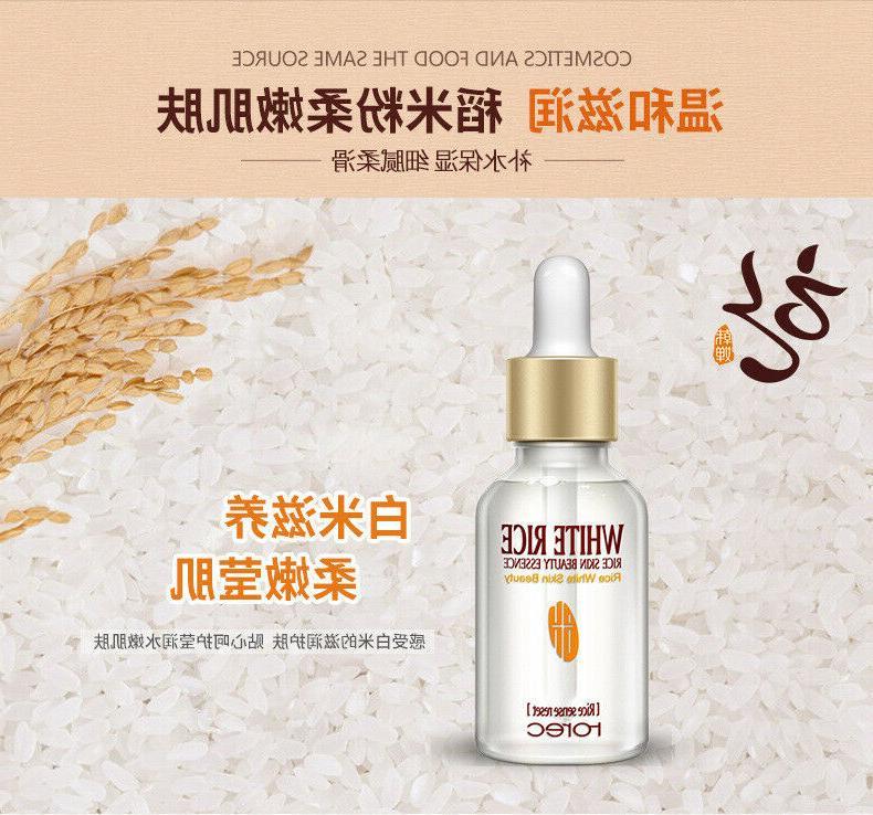 Skin Face Serum WHITE RICE Anti Fine Lines Large Aging