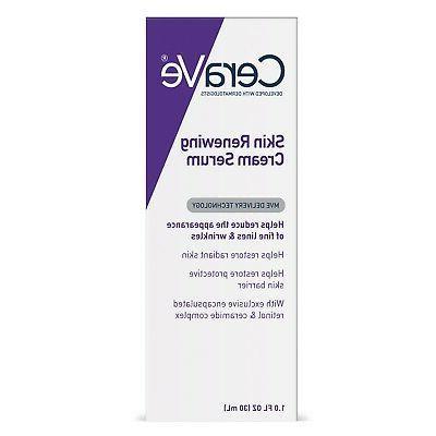 skin renewing retinol face cream serum