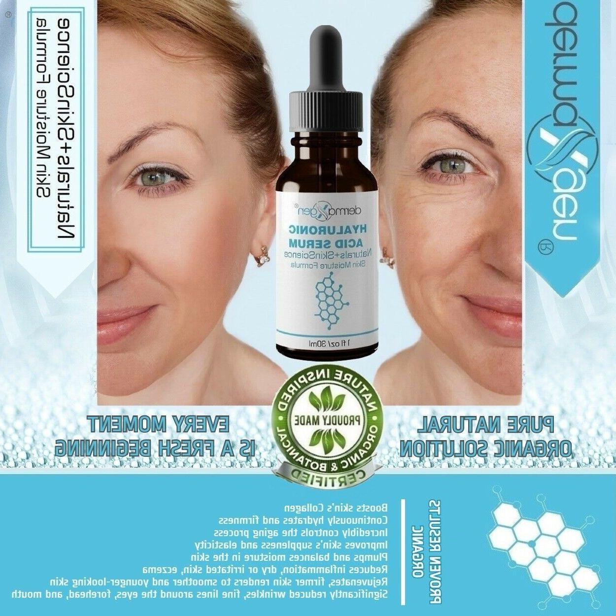 dermaXgen® PURE 100% Hyaluronic Acid Serum Anti Aging Inten