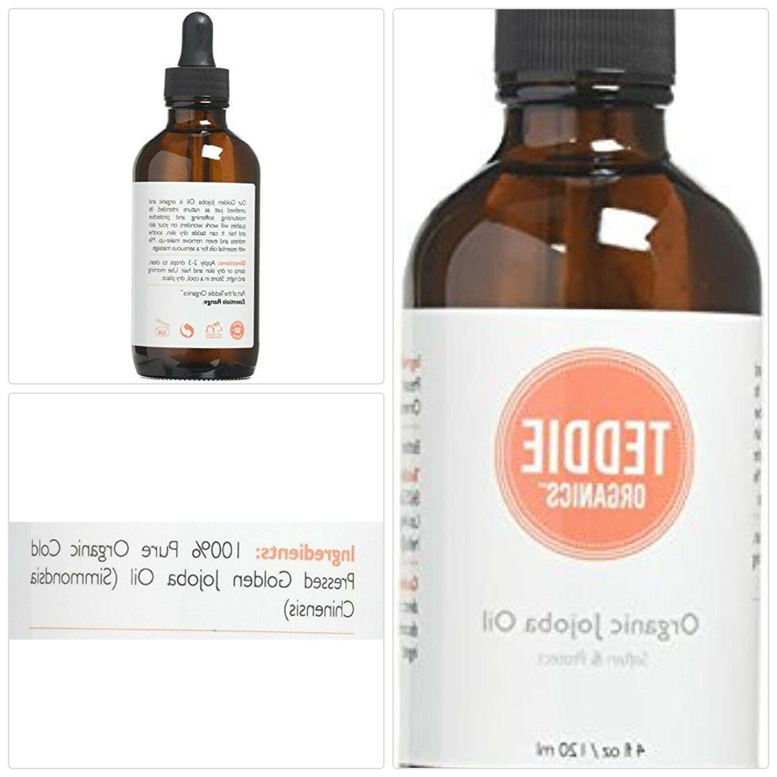 teddie organics golden jojoba oil 100 percent
