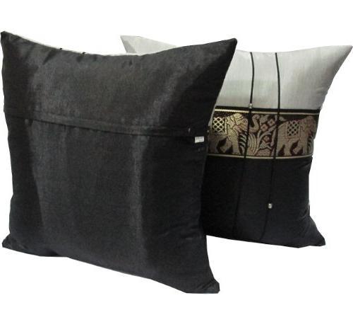 """2 Beautiful Thai Silk Throw Cushion, Handmade Size x 16"""""""