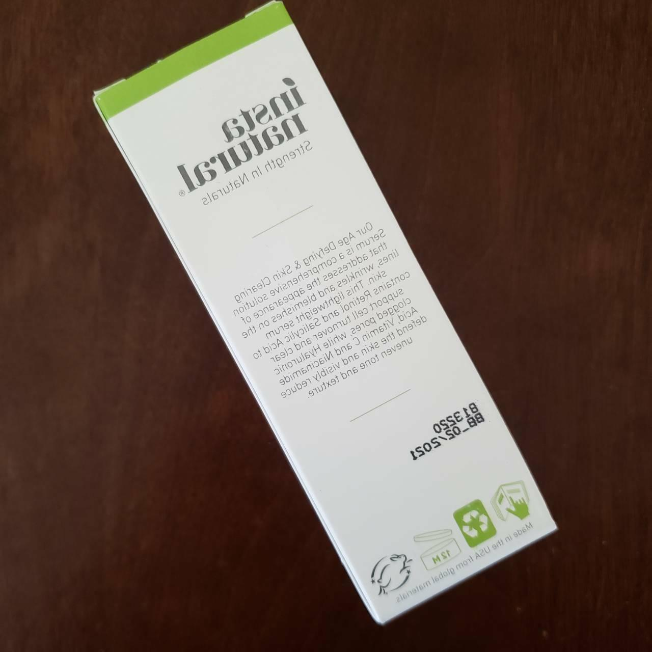 InstaNatural Aging Skin Clearing - Wrinkle NEW