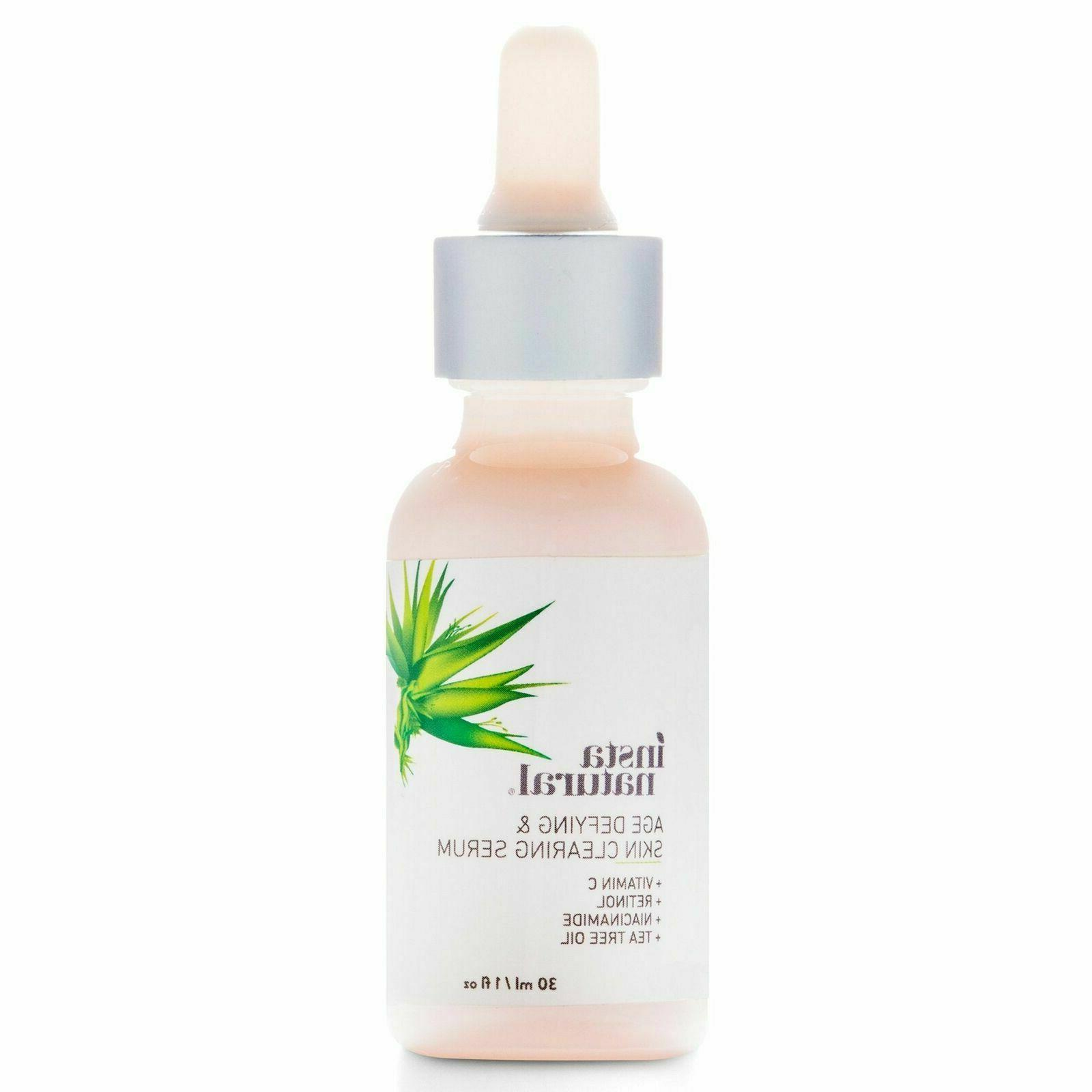 InstaNatural C Anti Aging Clearing Serum - Wrinkle NEW