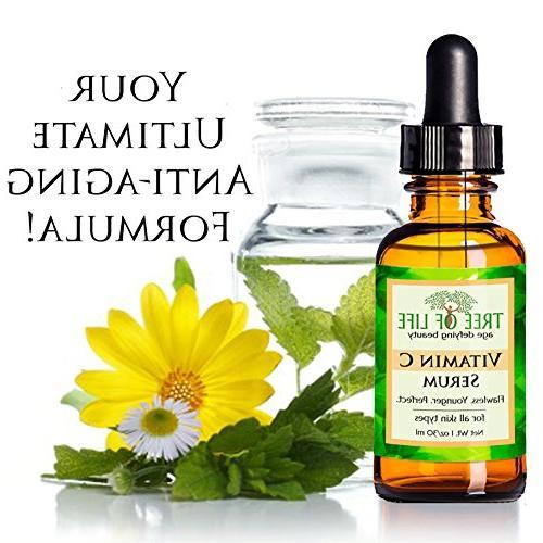 ToLB C for with Acid Aging Anti with Ingredients - Paraben Vegan Hyaluronic Skin - 1 oz