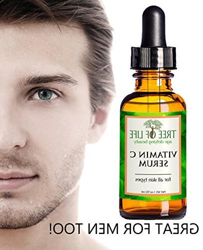 ToLB Vitamin C for Hyaluronic Acid - Anti Facial Serum with Ingredients Paraben Free, Vegan Best Vitamin with Hyaluronic Acid Skin 1 oz