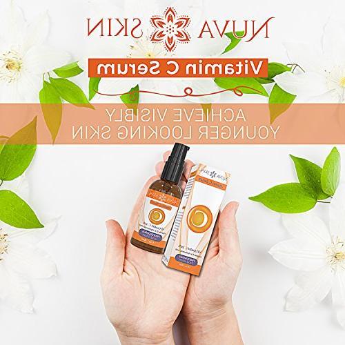 NUVA SKIN Serum for and Eyes Acid Serum & Vitamin Facial for Anti Aging, Sun Damage