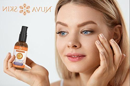 NUVA Serum Eyes w/Hyaluronic Serum & Vitamin E, Facial Acne, Anti Wrinkle, Anti Aging, Fades Sun Damage