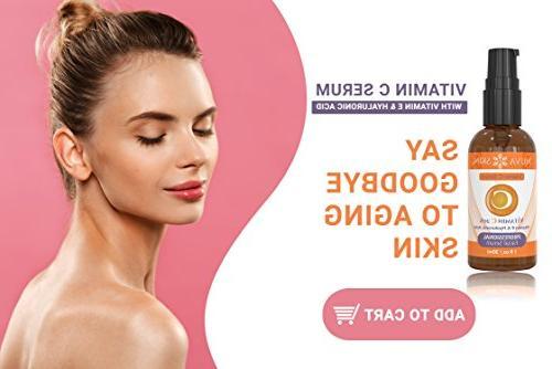 NUVA SKIN Serum for Face and Eyes Serum & Vitamin E, Facial Serum Anti Fades Age Spots Sun Damage
