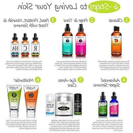 ✨TruSkin Naturals Hyaluronic Acid Vitamin C RETINOL Tea Tr