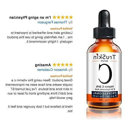 Vitamin C Face, Topical Hyaluronic Acid & 1 Fl Oz.