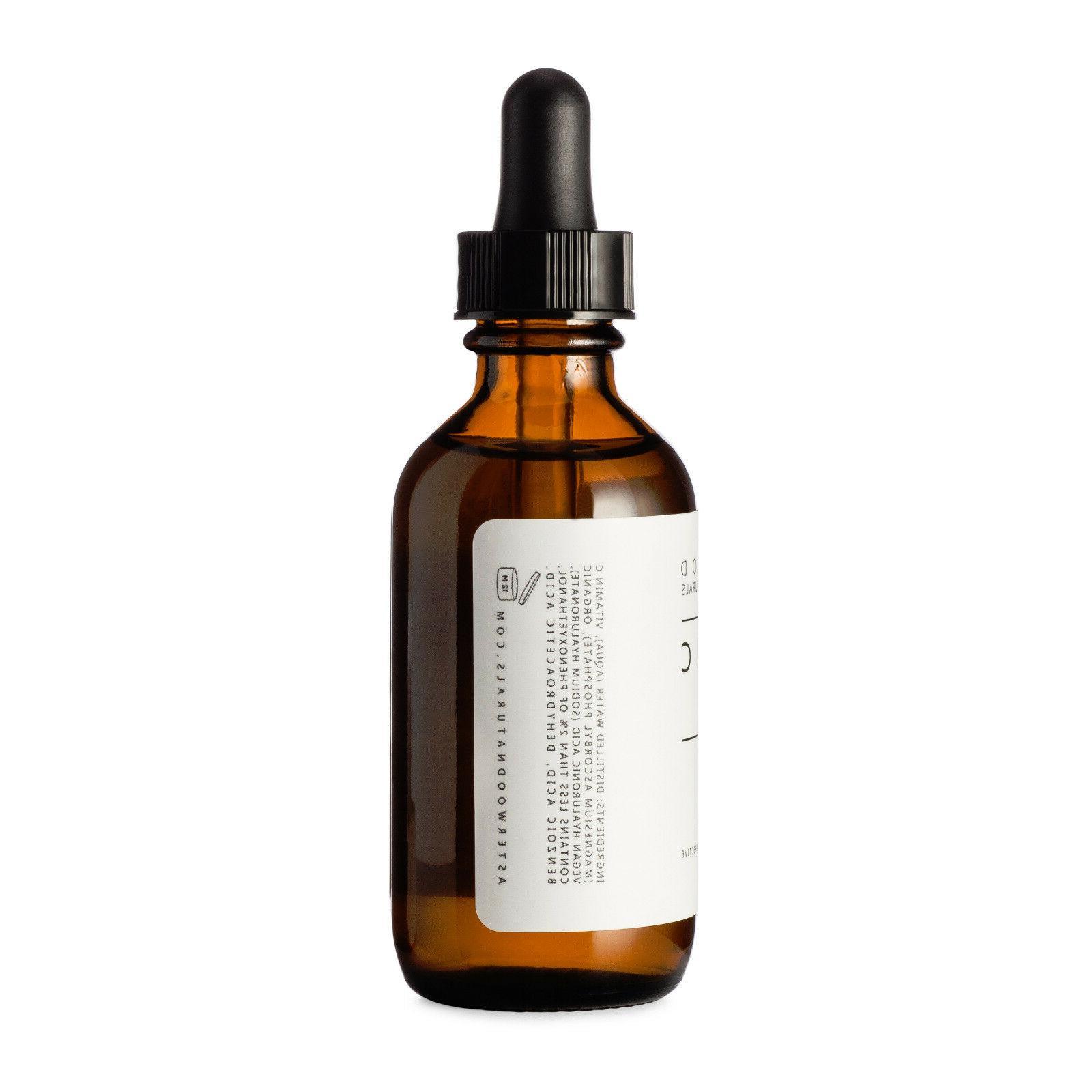Vitamin C Serum w/ Organic Hyaluronic 2oz Asterwood Naturals
