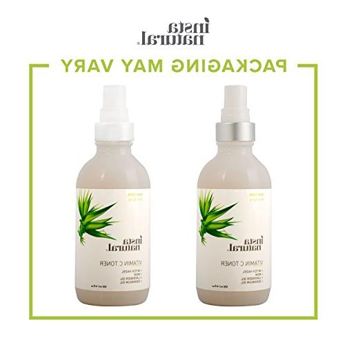 InstaNatural Vitamin Toner Face Spray with Witch Hazel - & Calming for Sensitive, Combination Prep for - 4