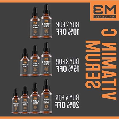 M3 Vitamin Serum for Face Topical Skin Care Anti Dark Spots Vitamin E 1 OZ