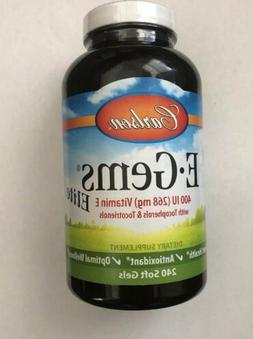 Carlson E-Gems Elite 400 IU, Vitamin E, Heart Health, 240 So