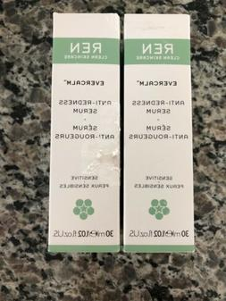 LOT Of 2-REN Evercalm Anti Redness Serum 1.02oz  Sensitive S