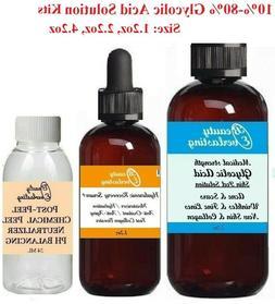Medical Grade *GLYCOLIC ACID Chemical Peels: 10%,20%,30%,40%