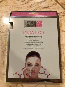 NEW 2-pack Global Beauty Care COLLAGEN Spa Treatment Masks A