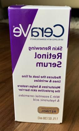 NEW CeraVe Skin Renewing Retinol Face Cream Serum Fine Lines
