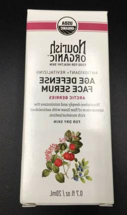 Nourish Organic Age Defense Face Serum Antioxidant For Dry S
