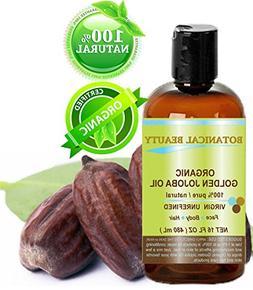 Botanical Beauty ORGANIC GOLDEN JOJOBA OIL 100% Pure. For Fa
