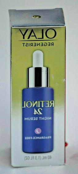 Olay Regenerist Retinol 24 Night Facial Serum - 1.3oz Free S