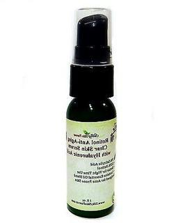 retinol clear skin serum hyaluronic acid vitamin