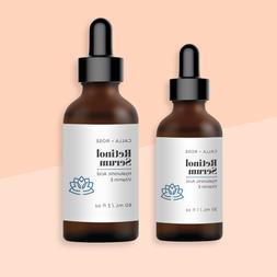 Retinol Serum Vitamin A + Hyaluronic Acid Face Anti-Wrinkle/