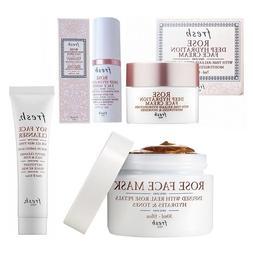 fresh ROSE Face Mask 30mL/1 fl.oz + ROSE cream + ROSE serum