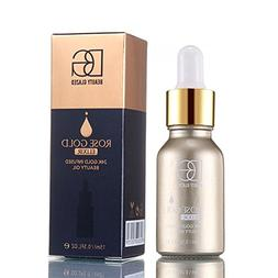ZHUOTOP 15ml 24k Rose Gold Elixir Moisturizer Facial Care Es