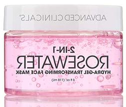 Advanced Clinicals Rosewater Mask for Fine Lines, Dry Skin,