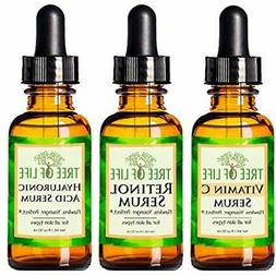 Serums Anti Aging 3-Pack Face Vitamin C Serum, Retinol Hyalu