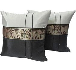 thai elephants silk throw